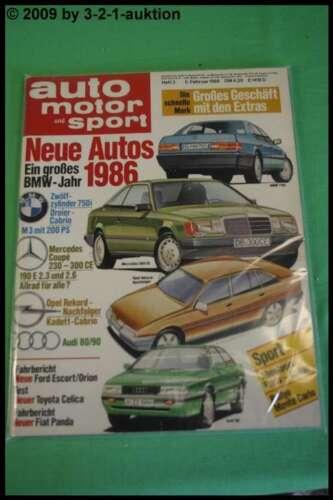 AMS Auto Motor Sport 3//86 Toyota Celica 2.0 GT BMW 750i M3 Cabrio