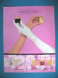 PUBLICITE-DE-PRESSE-SILVER-MATCH-BRIQUET-SPECIAL-FEMME-ELEGANCE-FEMININE-AD-1967