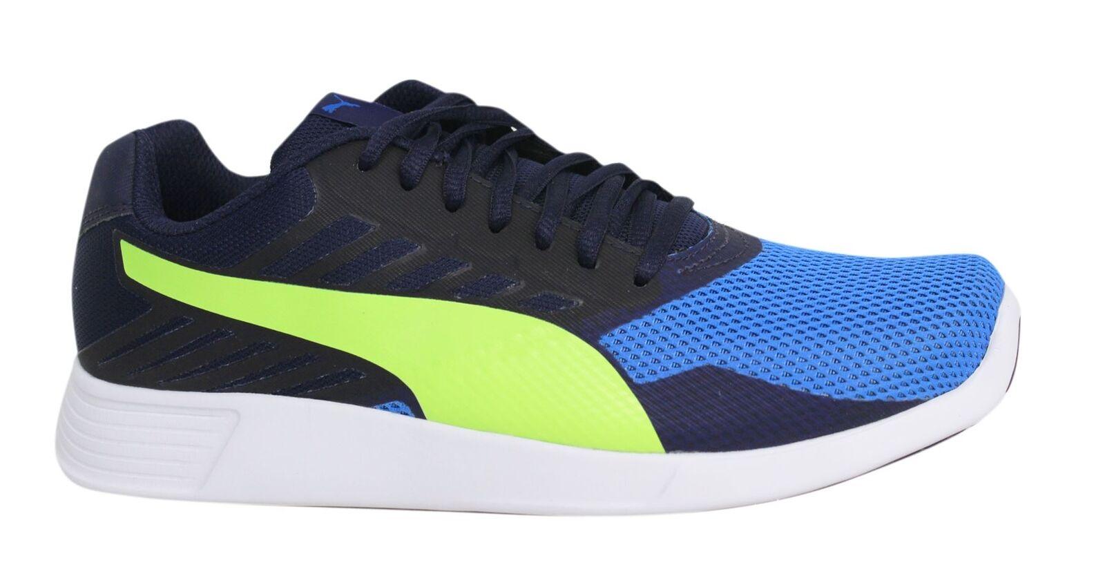 Puma SAN Pro con lacci blu giallo tessuto Scarpe sportive uomo 361959 04 P2 Scarpe classiche da uomo