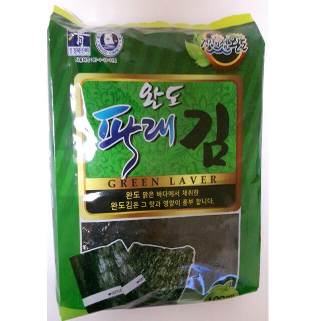 Korean natural green laver Seaweed Dried Laver for sushi, gimbab, nori 300 sheet