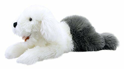 The Puppet Company Playful Puppies Old English Sheepdog Hand Puppet