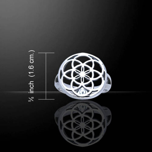 Flower .925 Sterling Silver Ring by Peter Stone