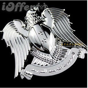 Car Chrome Emblem Badge Eagle Totem Star 3D Logo Silver NEW