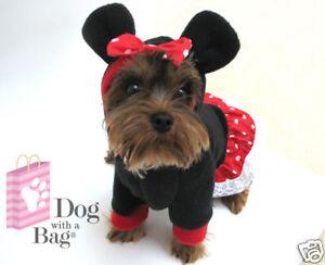 Disney Minnie Mouse Dress Chihuahua Yorkie Dog Coat Small Halloween