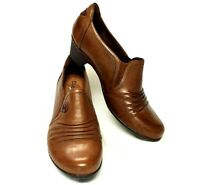 Cobb Hill Adele 8m/39 Shootie Shoe Boot Almond Brown Leather Low Heel