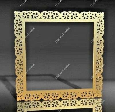 laser water jet DWG and EPS File For CNC Plasma Nice mirror frame DXF Router