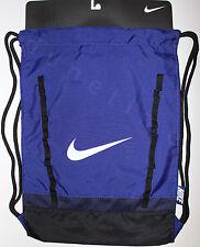 Nike Brasilia 7 Gymsack Backpack Dark Royal & Black BA5079-455 New Authentic NWT