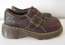 Doc Dr. Martens Brown Leather Buckle Strap Slip On Shoes UK 4 US 6 Womens China