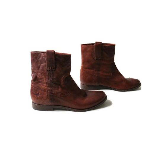 Women's FRYE Boot Anna Shortie Ankle Booties Brown