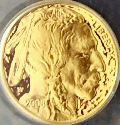 2008-W 1//4 oz Proof Gold Buffalo w//Box /& COA SKU #57206