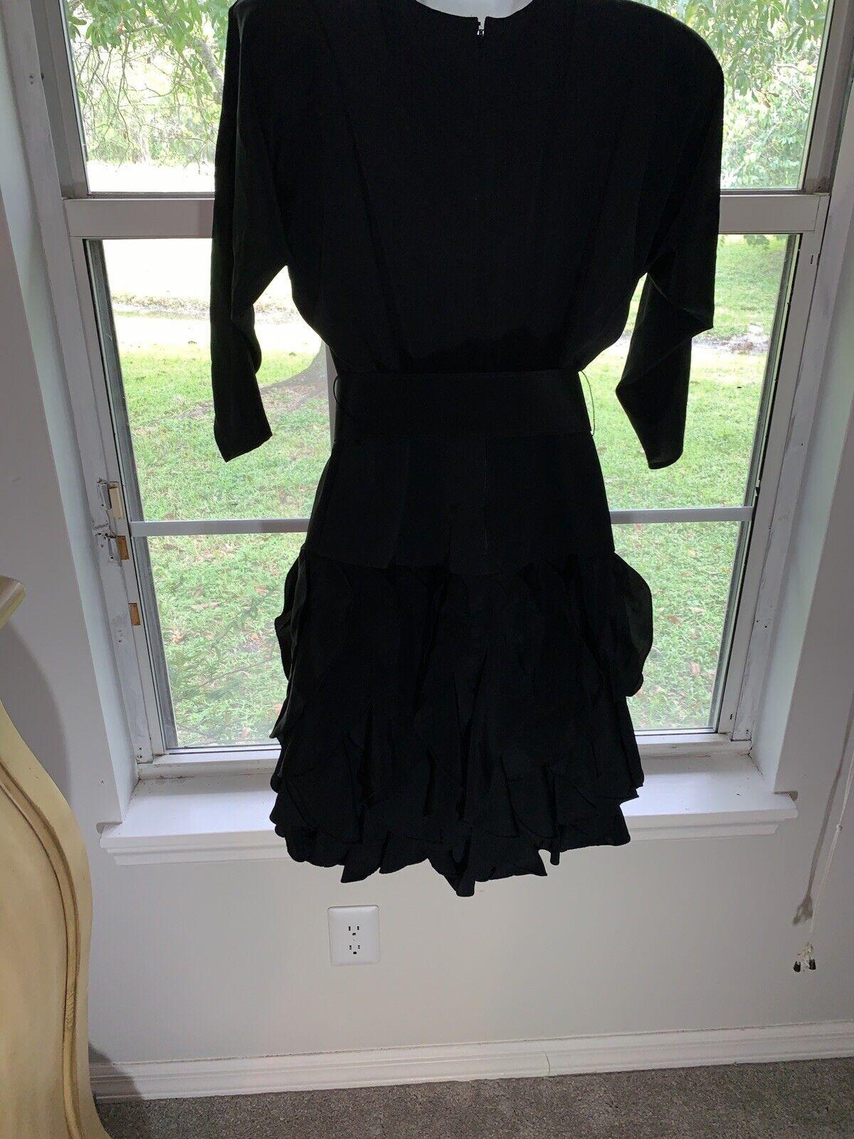 1980's Sexy Little Black Dress Rhinestone BELT RU… - image 7
