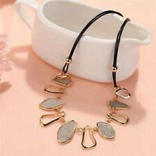 Fashion Womens Chain Choker Bib Statement Charm Collar Pendant Necklace Jewelry