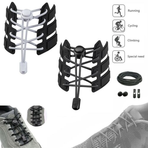 No Tie Shoelaces,Elastic Lock Shoe Laces Running Jogging Canvas Sneakers Trainer