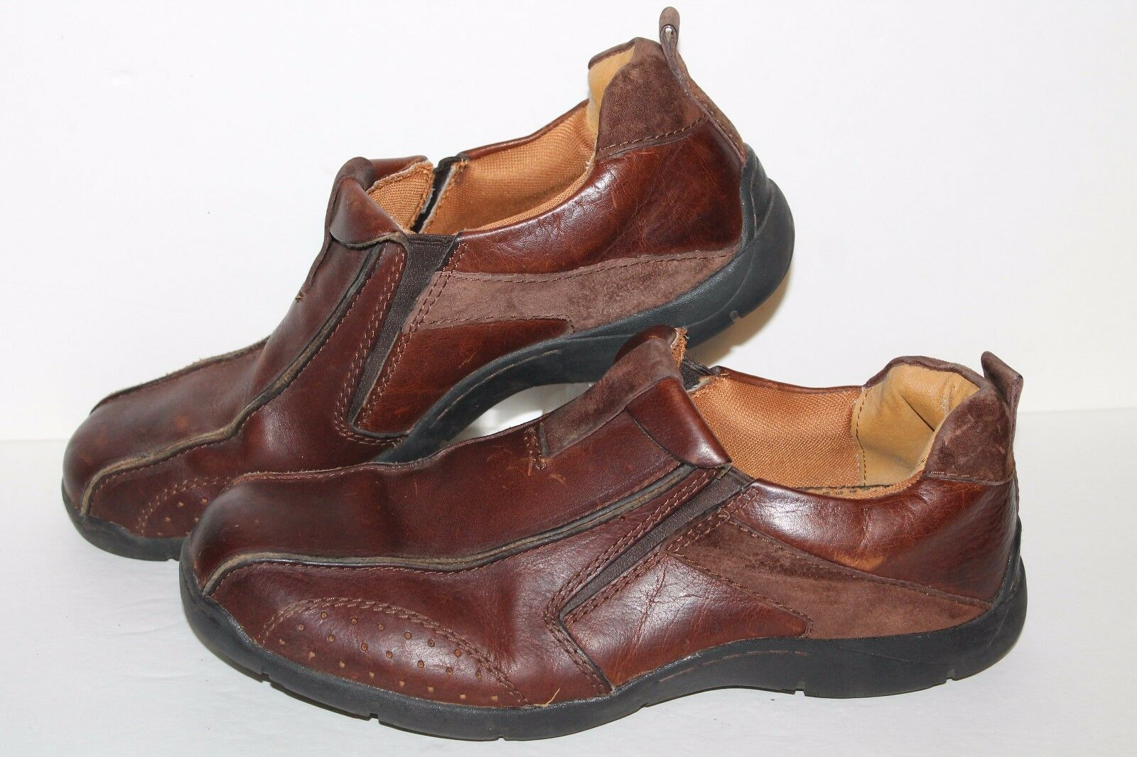 Skechers Saddleback Casual Shoes, Brown, Leather, Men's US Size 12