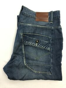 Uomo-Firetrap-jeans-blu-chiusura-a-bottone-W34-L34