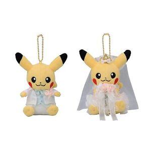 Pokemon-Center-Original-Muneco-De-Peluche-Mascota-Japon-par-Pikachu-Precioso-Boda