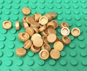 Lego-X50-Pearl-Gold-1x1-Round-Tile-New-Bulk-Parts-Lot-Pieces