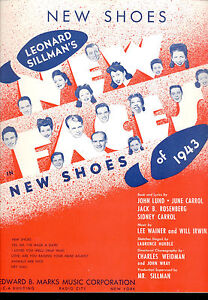 Broadway Music Partition Broadway Tong 1943 Shoes Nuevo Tong Nuevo 1943 Partituras q8pXW