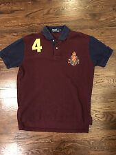 Men's Vintage Polo Ralph Lauren Patch Crest 4 Rugby Shirt Medium