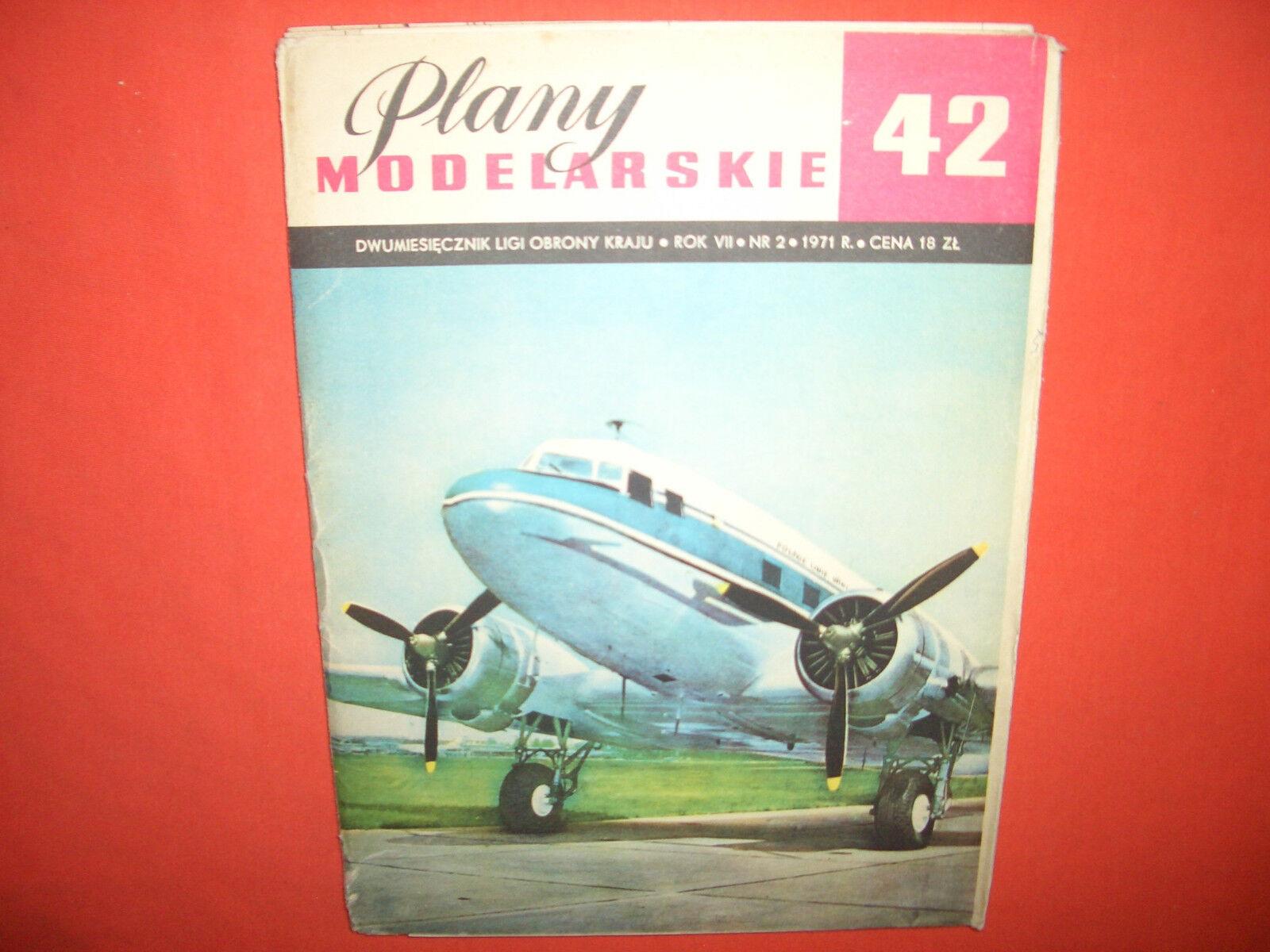 Risszeichnungen & Baupläne Plany Modellarskie 42, Douglas Lisunov Li-2 (DC-3)