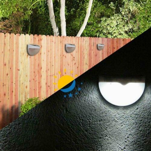 6-LED Garten Solar Power Power Lichtrinne Zaun Hof Lampe Wand Dach RR
