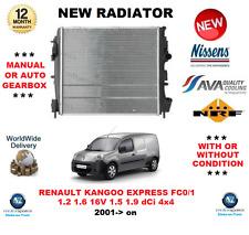 FOR RENAULT KANGOO EXPRESS FC0/1 1.2 1.6 16V 1.5 1.9 dCi 4x4 2001-> NEW RADIATOR