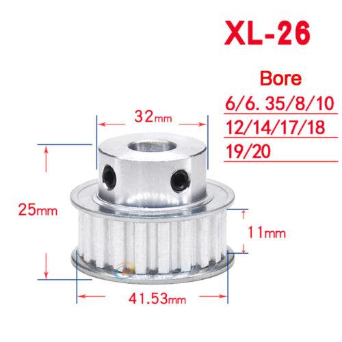 XL10T-35T Mit Schritt Zähne Zahnrad Riemenscheibe Für 10//15mm Breite Zahnriemen
