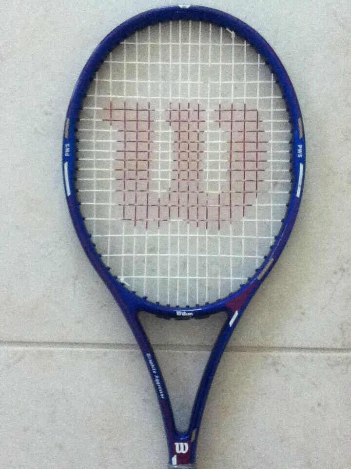 Wilson Grafito agresor 95  Midplus High Beam Encordada Raqueta De Tenis 4-1 2  Como Nuevo  tienda