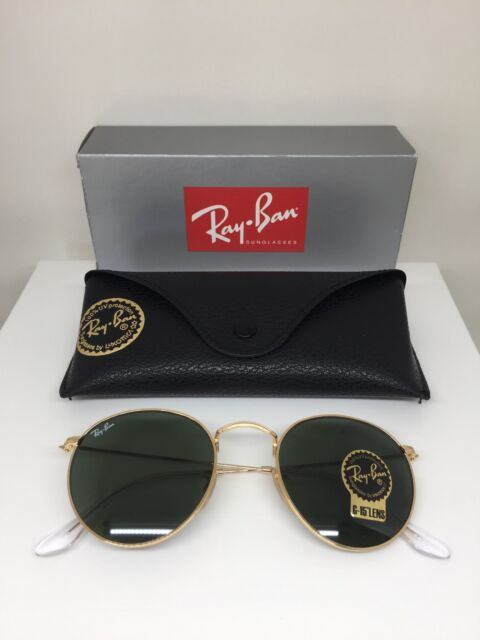 c04deb5670 Authentic Ray-Ban Round Metal Gold Sunglasses RB 3447 - 001 62 47mm ...