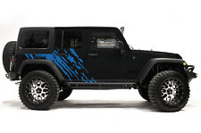 Vinyl Graphics Decal Wrap Kit for 4-Door 07-16 Jeep Wrangler Rubicon SPLASH Blue