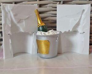 3D-Champagne-Bouteille-en-Seau-Moule-Silicone-pour-Decoration-de-Gateaux