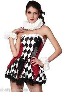 Ladies-Sexy-Corset-Court-Jester-Carnival-Medieval-Fancy-Dress-Costume-Outfit