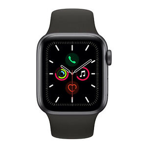 Apple Watch Series 5 (GPS Only, 40mm, Space Gray Aluminum, Black Sport Band)