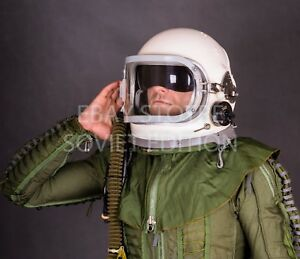 c992bfe6a50e Vintage fighter pilot helmet size XL 3Б GSH-6 flight jet space air ...