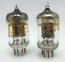 Western Electric 408A Vacuum Tubes  Matched Pair Little Dot I+1+