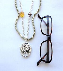 Eye-Glass-Holder-Beaded-Adjustable-Necklace-Chain-Dangle-Photo-Pendant-Charm