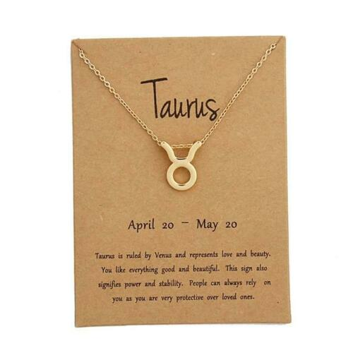 *Zodiac Sign Charm Necklace