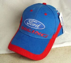 FORD RACING Spike Sports Blue Cotton Hat Cap Mens Size OSFA NEW NWT