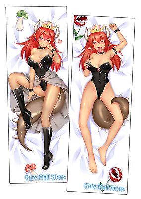CuteMall Bowsette Anime Dakimakura Hugging Body Pillow Cover H3880C