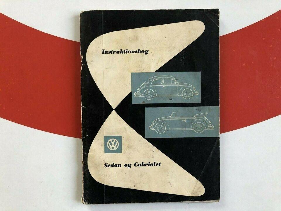 Instruktionsbog, VW Sedan og Cabriolet. August 1958