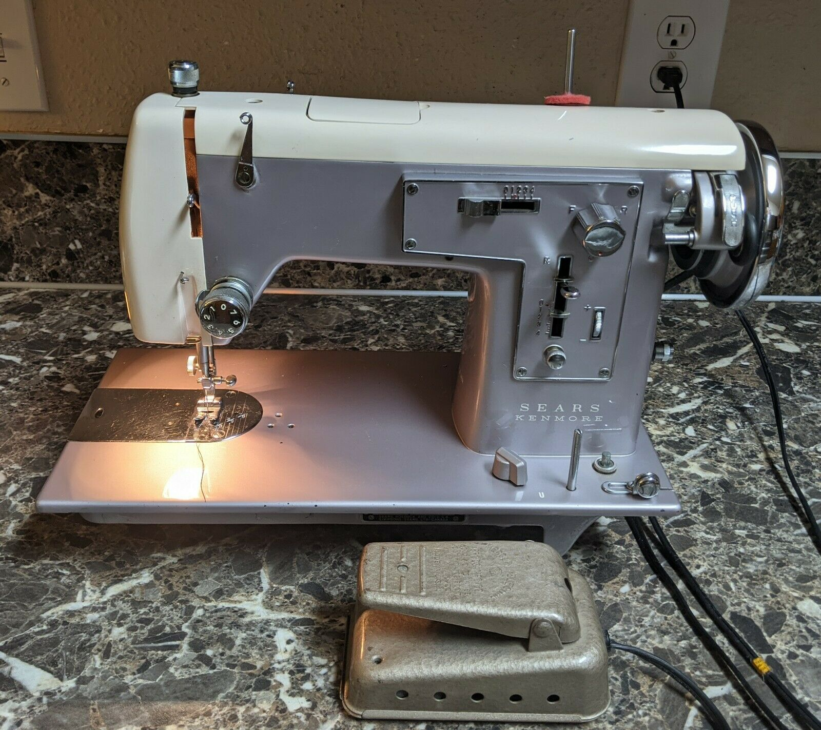 Sears Kenmore Model 158 19470 Sewing Machine Made In Japan Tested Working For Sale Online Ebay
