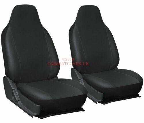 Heavy Duty Black Waterproof Car Seat Covers 2 x Fronts 2012- Seat Leon