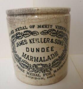 Nice dumpy James Keiller Dundee Marmalade Jar Pot