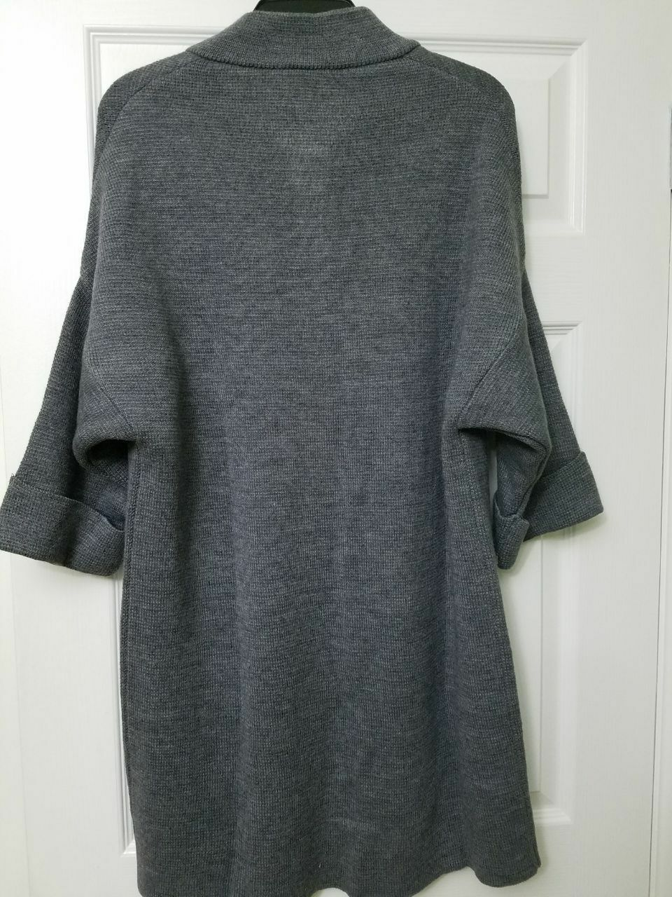 NWT COCOGIO Grey Long Cardigan Coat Sweater Size M M M Made in  5089 a640b8