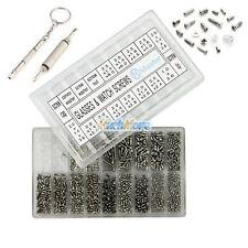1000pcs Tiny Screws Nut + Screwdriver Watch Eyeglass Glasses Repair Tool Set Kit