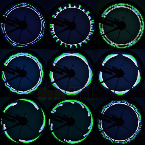 30 Pattern LED Colorful Bicycle Wheel Tire Spoke Signal Light For Bike Safety
