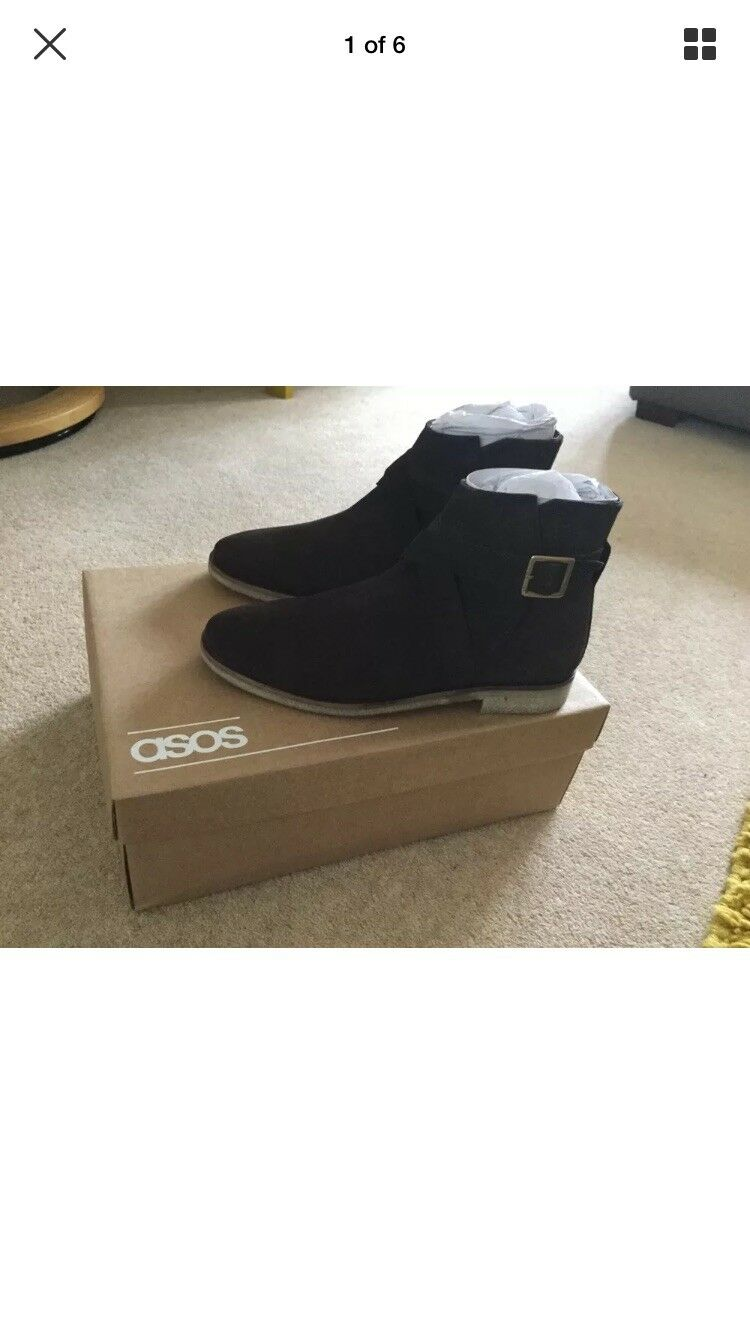 Asos Brown Suede Chelsea Boots - Ankle Boots - New- Size UK 6 Eur 39