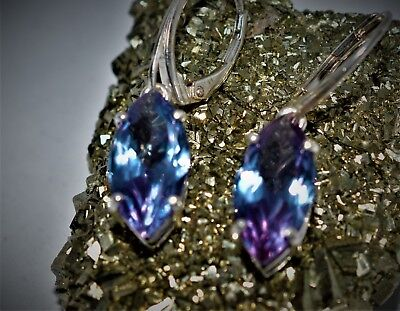 Alexandrite Jewelry & Watches Apprehensive 9.90+ct Womans Lever Backs Earrings Russian Well Test Real Lab Alexandrite Moderate Cost