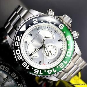 Invicta Reserve Grand Diver Master Calendar Silver Tone Steel 47mm Watch New