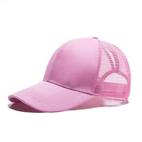 Glitter Ponytail Baseball Cap Womens Messy Bun Adjustable Snapback Hip Hop Hat A